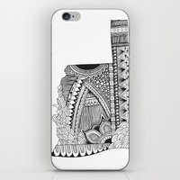 oklahoma iPhone & iPod Skins featuring Oklahoma by Line Upon Line Designs