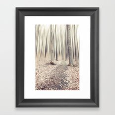 walking through the last days of autumn Framed Art Print