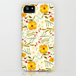 SUNSHINE FLORAL iPhone Case
