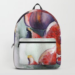Fig Watercolor Fruits Backpack