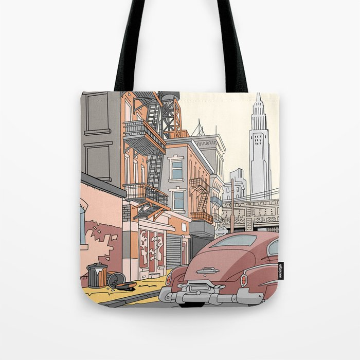 Downtown New York Tote Bag