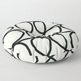 Loop Di Doo Cream & Black Floor Pillow