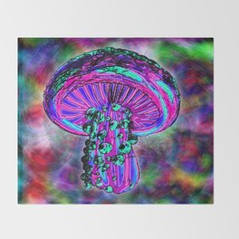 Trippy Shroom Throw Blanket