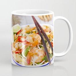 I - Healthy shrimp and vegetables stir-fry in a bowl, brightly lit Coffee Mug