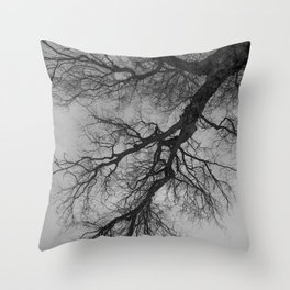 Lungs of the Earth | Nature Photography | Weeping Willow | Black and White | black-and-white | bw Throw Pillow