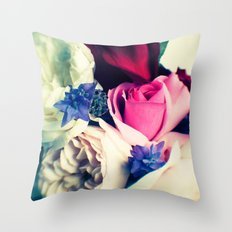 November Roses Throw Pillow