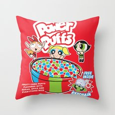 Power Puffs Cereal Throw Pillow