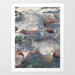 PEKKA HALONEN, ROCKY RAPIDS Art Print