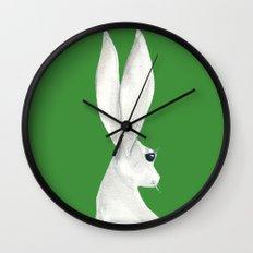 tenzin rabbit Wall Clock