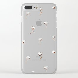 Cotton pattern Clear iPhone Case