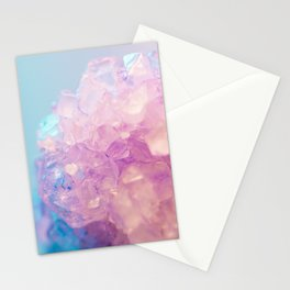 Pink Crystal Texture Stationery Cards