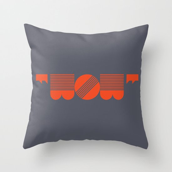 """WOW"" Throw Pillow"