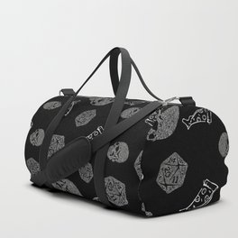 Game Night - repeating pattern nerdy d20 skull pizza Duffle Bag