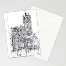 Cattedrale di Genova schizzo di studio Stationery Cards
