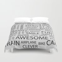 word Duvet Covers featuring Word by Inkley