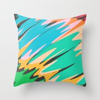 kids Throw Pillows featuring Kids by Celery Woulise