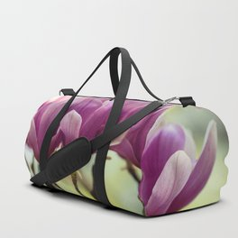 Blooming pink soulange magnolia Duffle Bag
