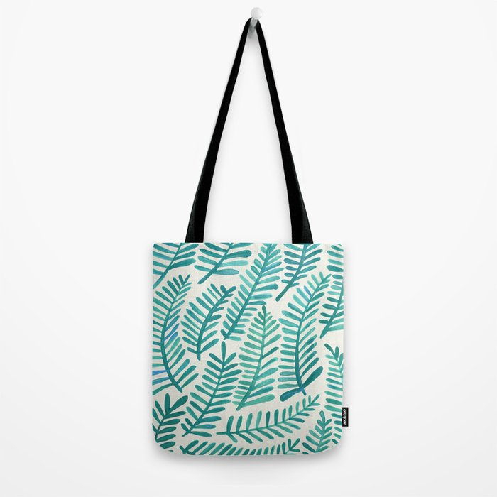 Green Fronds Tote Bag