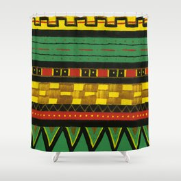 Rasta Knit Shower Curtain