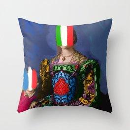 French Italian Pop Remix of Classical Painting of Bronzino Throw Pillow