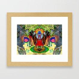 Spring of Lion Spirit Framed Art Print