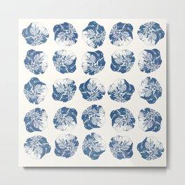 Minimal Patterns - Mexican Primrose Blue Metal Print