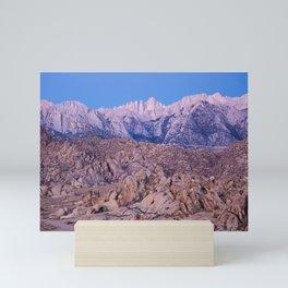 Mount Whitney /view from Movie Flats, Lone Pine, CA. Mini Art Print