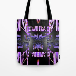 Embossed Space Craft Intricacies Bubblegum Abstract III Tote Bag