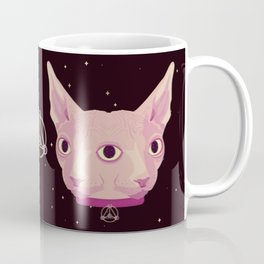 Two-Faced Sphynx From Outer Space Coffee Mug