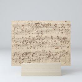 Old Music Notes - Bach Music Sheet Mini Art Print