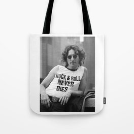 Rock and Roll Never Dies Tote Bag