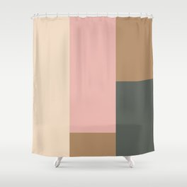 Contemporary Composition 24 Shower Curtain
