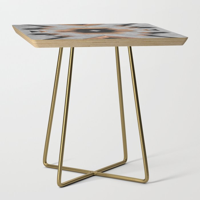 Urban Tribal Pattern No.6 - Aztec - Concrete and Wood Side Table