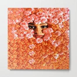 Fleurs Face Metal Print