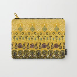 lotus block vintage gold Carry-All Pouch