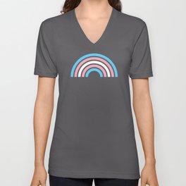 Gay Pride LGBTQ Transgender Rainbow Stripe 2018 Unisex V-Neck