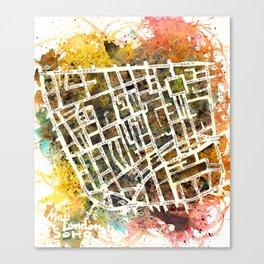Soho London Map Canvas Print