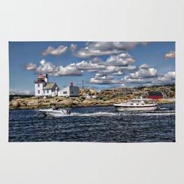 Homlungen lighthouse, Hvaler in Norway Rug