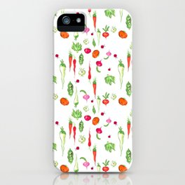 Veggie Party Pattern iPhone Case