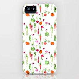 Veggie Party Pattern iPhone Case