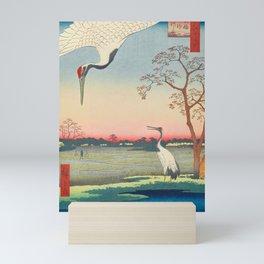 Red-crowned Crane Vintage Ukiyo-e Japanese Art Mini Art Print
