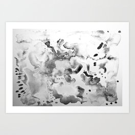 Abstract grey Art Print