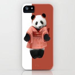 Japanese panda iPhone Case
