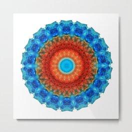 Seeing Mandala 2 - Spiritual Art By Sharon Cummings Metal Print
