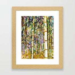 Bamboo grove Framed Art Print