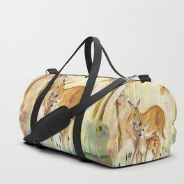 Mom and Little Deer Duffle Bag