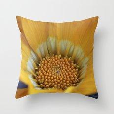 Yellow Gazania Macro Throw Pillow