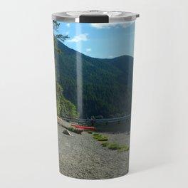 Lake Cresent Shore Travel Mug