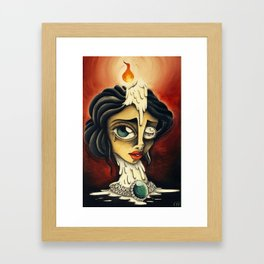 """Candle Lady"" Framed Art Print"