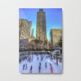 New York Ice Skating Metal Print